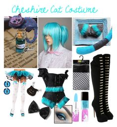 """""""Cheshire Cat Costume"""" by laurakhamner ❤ liked on Polyvore featuring мода, Burton, Charlotte Olympia, Lime Crime и Forever 21"""
