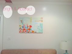 Blogged: DIY abstract art in my living room