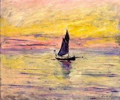 Claude Monet: The Sailing Boat, Evening Effect, 1885