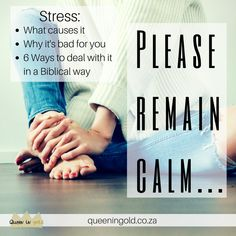 What causes stress? Why it's bad? and how to deal with it in a Biblical way What Causes Stress, Remain Calm, Other Woman, Inspire Others, Encouragement, Thankful, Advice, Teen, Christian