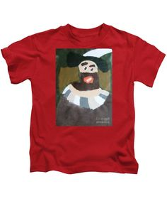 Patrick Francis Designer Kids Red T-Shirt featuring the painting Rembrandt - After Rembrandt Self-portrait by Patrick Francis