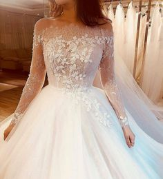 You will find that modest brides prefer long sleeve wedding dresses over something that does not cover their arms. See our bridal gowns with sleeves here! Plum Bridesmaid Dresses, Blue Wedding Dresses, Princess Wedding Dresses, Cheap Wedding Dress, Wedding Dress Tumblr, White Princess Dress, Beautiful Bridesmaid Dresses, Casual Wedding, Purple Wedding