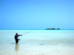 Fishing on Parrot Cay. Told Jason he could bring one fly rod. That's love.