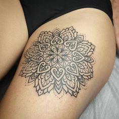 Exquisite mandala tattoo by mangust_tattooer.