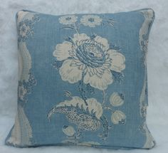 Colefax and Fowler Fabric ~ Caldbec. This makes up beautifully into a pillow, doesn't it?