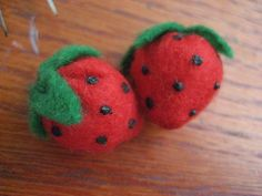 Simple Felt Strawberry
