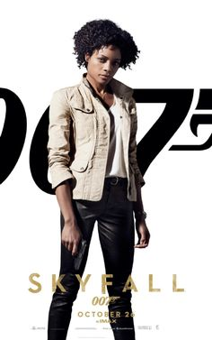 Skyfall Poster - Moneypenny (Naomie Harris), never knew the character's first name is Eve!