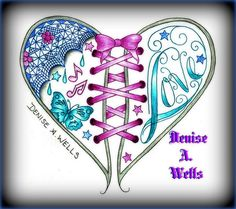 Love Heart Tattoo design by Denise A. Wells