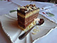 Biele kakaové rezy s čokoládovým krémom (fotorecept)