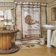 Lodge Bathroom Decor | Underwater theme is one of kid's favorite! Easy to decorate, looks for ...
