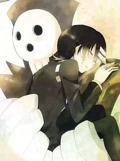 Soul Eater: Shinigami hugging his Son; Death The Kid I Love Anime, Awesome Anime, All Anime, Me Me Me Anime, Manga Anime, Anime Art, Anime Guys, Anime Soul, Anime Life