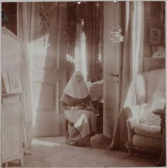 Photoa of Grand Duchess Tatiana of Russia who served as a nurse along with her mother and sisters during WWI