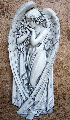 ANGEL SANTA CROCE WALL FRIEZE SCULPTURE STATUE DesignToscano.com