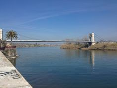 Bridge over Ebro River, Amposta, Spain