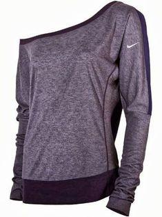 One shoulder nike sleeve fall shirt fashion
