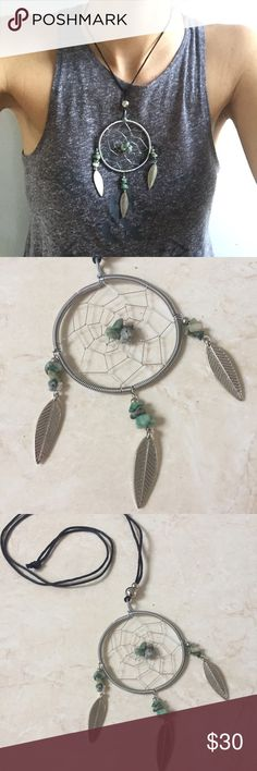 Gorgeous wire wrap dreamcatcher Handmade with love in bali:) gorgeous Native American dreamcatcher necklace with adjustable layering setting, can be drawn as choker all the way to chest pendant. Gorgeous winter statement piece! handmade Jewelry Necklaces