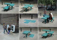 Mobiliário urbano pop up