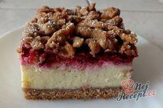 Velmi oblíbený zákusek s tvarohovou náplní. Těsto nastrouháte na hrubém struhadle a získáte tak krásný povrch, který už stačí jen jemně pocukrovat. Osvěžující maliny dodají koláči fantastickou chuť. Czech Recipes, Ethnic Recipes, Sponge Cake, No Bake Cake, Nutella, Tiramisu, Sweet Tooth, Cheesecake, Food And Drink