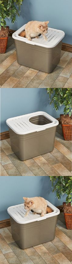Litter Boxes 100411: Litter Pan Tray Top Entry Box Pet Animal Cat Dog Kitten Kitty Toilet Large Clean -> BUY IT NOW ONLY: $30.64 on eBay!