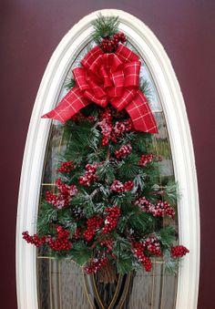 Christmas Wreath Door Wreath Teardrop by AnExtraordinaryGift, $85.00