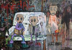 Quitte Le Pouvoir: New Paintings By Aboudia    Read more below    http://www.jackbellgallery.com/artists/27-Aboudia/overview/