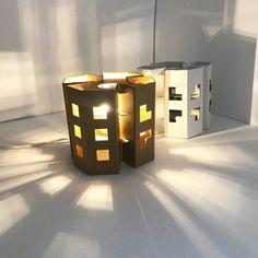Ecodesign lamp in cardboard - Manhattan Valentine's Day