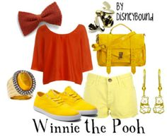 Disney Winnie the Pooh Outfit Disney Character Outfits, Cute Disney Outfits, Disney Themed Outfits, Disneyland Outfits, Disney Bound Outfits, Disney Dresses, Cool Outfits, Fashion Outfits, Disney Clothes