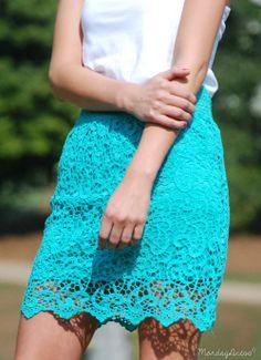 Ain't It Fun Aqua Skirt