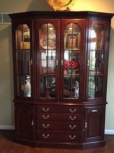 9 Piece Cherry Dining Room Set   Vintage Antique By Henkel Harris  Queen  Anne