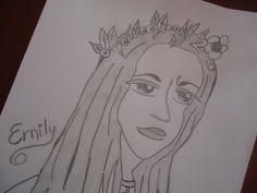 Rabisco do desenho de Emily