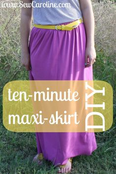10-minute maxi skirt DIY! So fun & so simple!