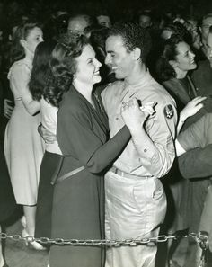 Deanna Durbin Dances With An Air Cadet at the Hollywood Canteen