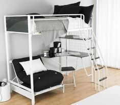 Single Bunk Bed With Desk Underneath