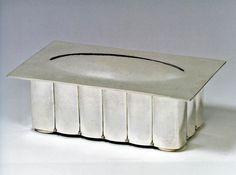 ** Josef Hoffmann, Covered Box. Joseph Hoffman, Coffer, Covered Boxes, China Porcelain, Art Nouveau, Ottoman, Glass, Silver, Design