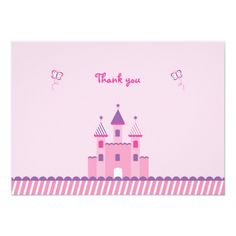 Princess Castle Flat Thank You Note Cards