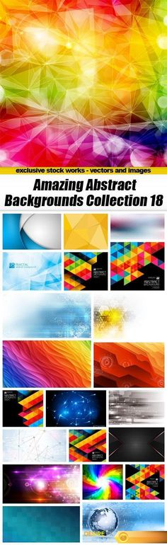 Amazing Abstract Backgrounds Collection 18 - 22xEPS http://www.desirefx.me/amazing-abstract-backgrounds-collection-18-22xeps/