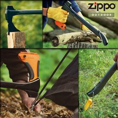 Marvel at the 4-in-1 Woodsman from our Zippo Outdoor line.  This ultimate camping tool is an axe, bow saw, mallet, and stake puller.  Do you think it kicks axe?