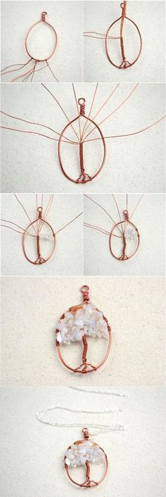 Necklace Designs- Mother's Day Necklace with the Ingenious Tree of Life Pendant … - DIY Jewelry Crafts Ideen Jewelry Making Tutorials, Jewelry Making Supplies, Diy Necklace, Necklace Designs, Wire Crafts, Jewelry Crafts, Wire Wrapped Jewelry, Wire Jewelry, Lc Jewelry