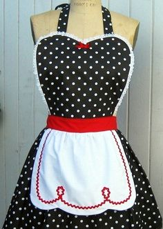 pin-up-apron 1950s rockabilly style apron