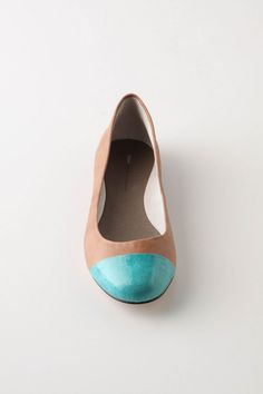 on-your-toes flats, turquoise