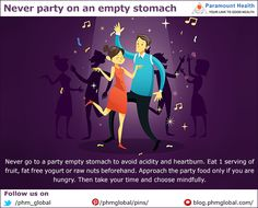 #ParamounteDaily - Never #party on an empty stomach