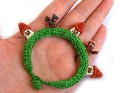 bracelet Village - crocheted bracelet, by Sashetta on Etsy #diy #art #craft #jewellery