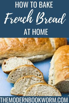 Easy homemade French bread recipe! This soft, fluffy French bread is SO easy to make and so much healthier than store bought. Pin now, make later! Breakfast Bread Recipes, What's For Breakfast, Easy French Bread Recipe, Recipe Maker, Fun Baking Recipes, Homemade Breads, Healthy Desserts, Baked Goods, Good Food