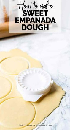 Looking for a quick and easy sweet empanada dough try this recipe A great pastry recipe for your tarts pies turnovers and hand pies Visit for the full recipe Pastry Recipes, Pie Recipes, Mexican Food Recipes, Sweet Recipes, Dessert Recipes, Cooking Recipes, Pie Dessert, Tapas Recipes, Recipies