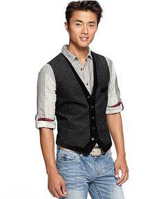 INC International Concepts Vest, Dumont Vest - Mens Men's Vests - Macy's