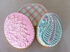 Henna/Plaid cookies