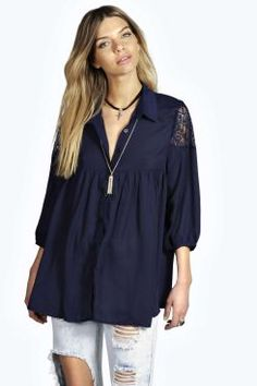 Rachel Metallic Lace Shoulder Trim Trapeze Shirt. Get unbeatable discounts up to 60% Off at Boohoo using Coupon & Promo Codes.