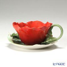 フランツ・コレクション コモンポピー  カップ&ソーサー FZ00799  Franz common poppy collection  Cup and saucer FZ00799