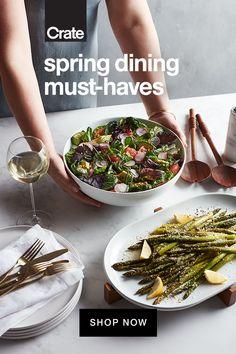 Modern Serveware, Food Goals, Dish Sets, Freezer Meals, I Love Food, Crate And Barrel, New Recipes, Crates, Dinnerware