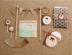 Free explorer safari party printables designed for @potterybarnkids by @Kim -  The TomKat Studio! love her work
